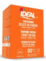 Teinture textile ORANGE Tout en 1 230g | IDEAL / ESWACOLOR
