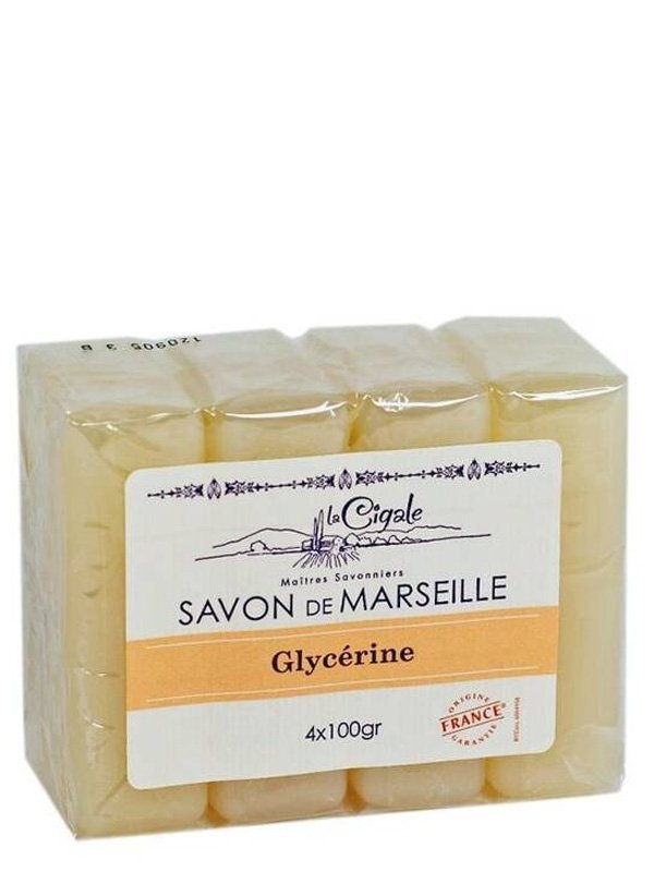 savon de marseille 4 x 100g la cigale shop online. Black Bedroom Furniture Sets. Home Design Ideas