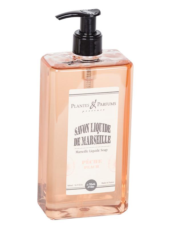 savon liquide de marseille p che 500ml plantes parfums shop online. Black Bedroom Furniture Sets. Home Design Ideas