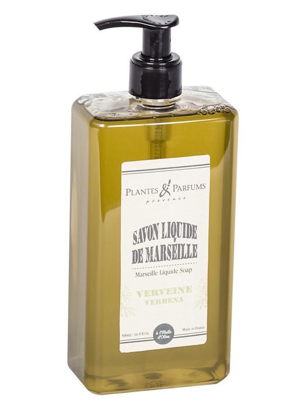 fl ssige marseilleseife verveine 500ml plantes parfums online shop. Black Bedroom Furniture Sets. Home Design Ideas