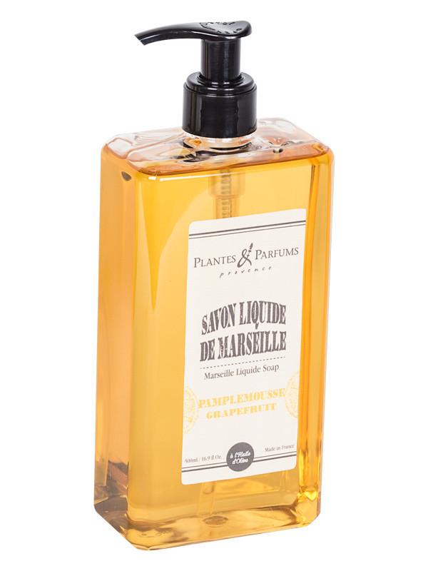 fl ssige marseilleseife grapefruit 500ml plantes parfums online shop. Black Bedroom Furniture Sets. Home Design Ideas