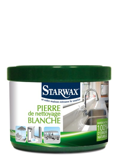 pierre de nettoyage blanche bio 375g starwax all4home. Black Bedroom Furniture Sets. Home Design Ideas