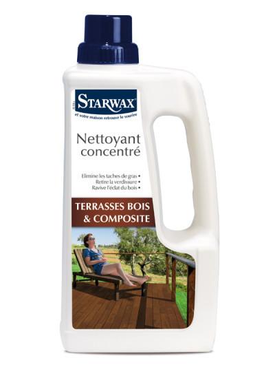 nettoyant concentr terrasse bois et bois composite 1l starwax shop online. Black Bedroom Furniture Sets. Home Design Ideas