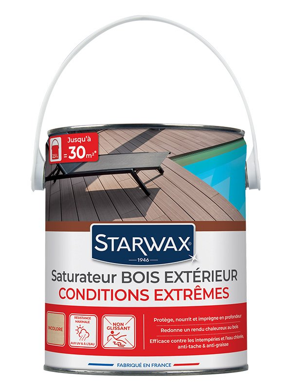 saturateur haute protection terrasses bois incolore 2 5l starwax shop online. Black Bedroom Furniture Sets. Home Design Ideas