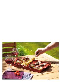 Grill Stone rouge 42x25cm | EMILE HENRY